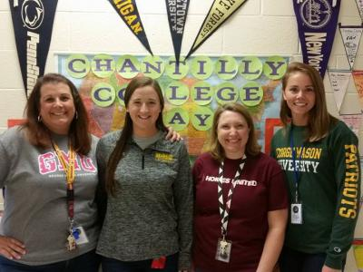 Teachers dressed in college gear