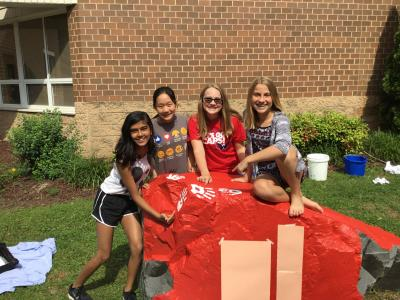 6th graders on Kindness Rock