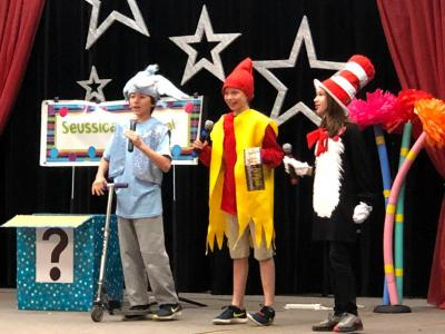 students performing Seussical the Musical